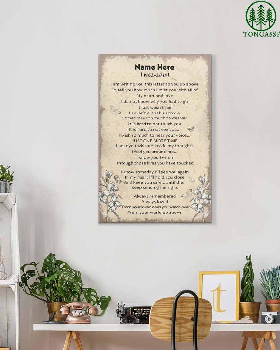 Personalized A Letter to My Loved One in Heaven Gallery Wrapped Canvas Prints