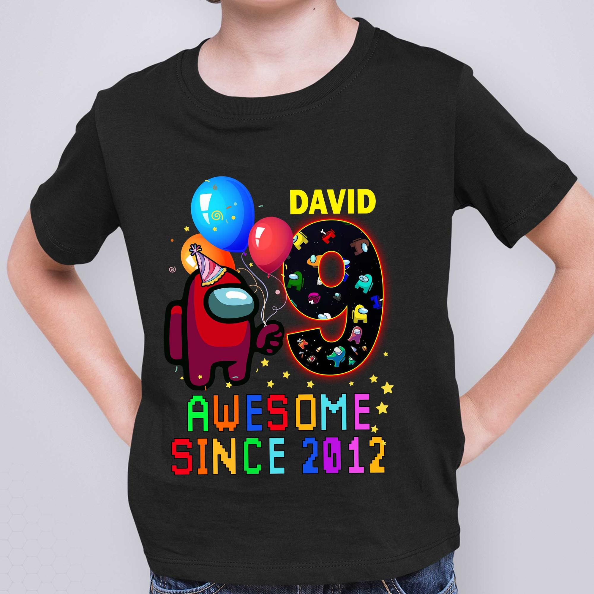 Personalized Among Us Birthday Gift Shirt 2