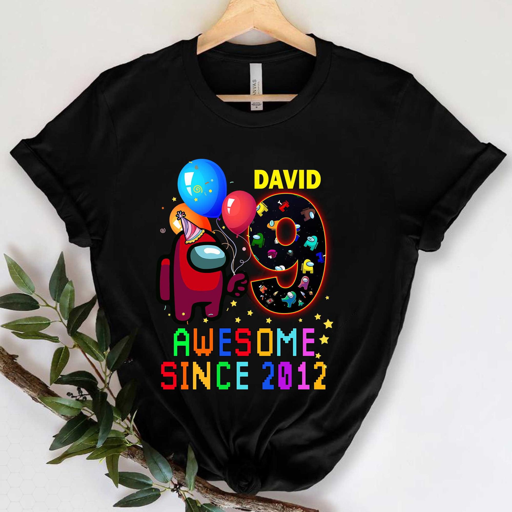 Personalized Among Us Birthday Gift Shirt