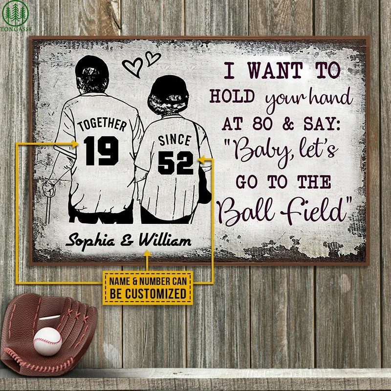 Personalized Baseball Together Since Customized Poster
