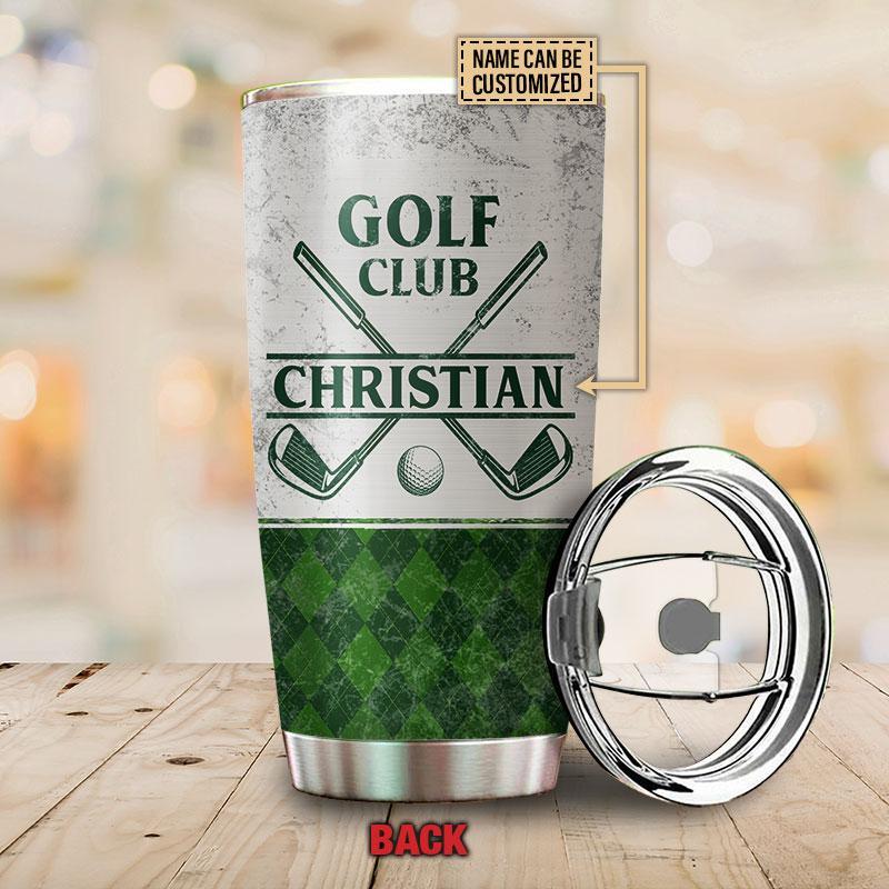 Personalized Best Dad by Par Golf Club Custom Tumbler