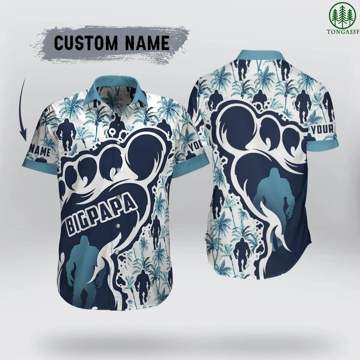 Personalized Big Papa Hawaiian Shirt