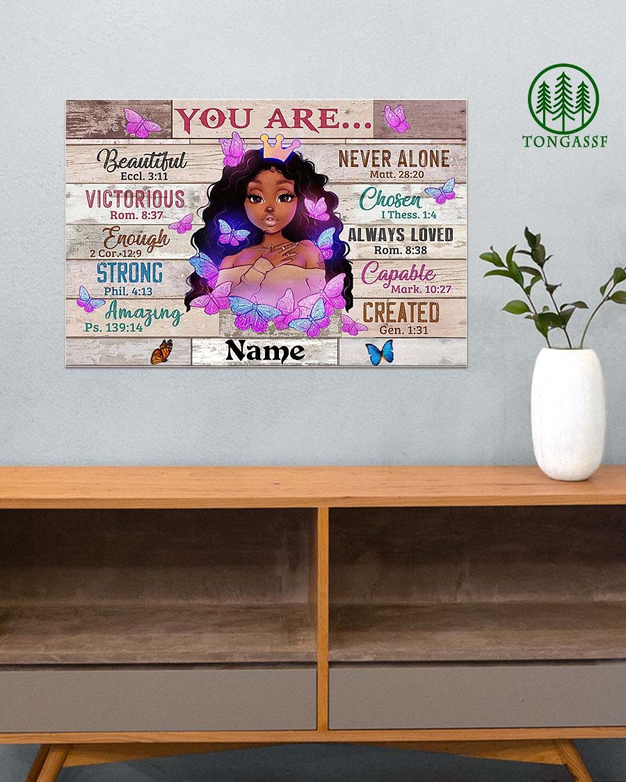 Personalized Black Girl You Are Beautiful Black Teenage Poster