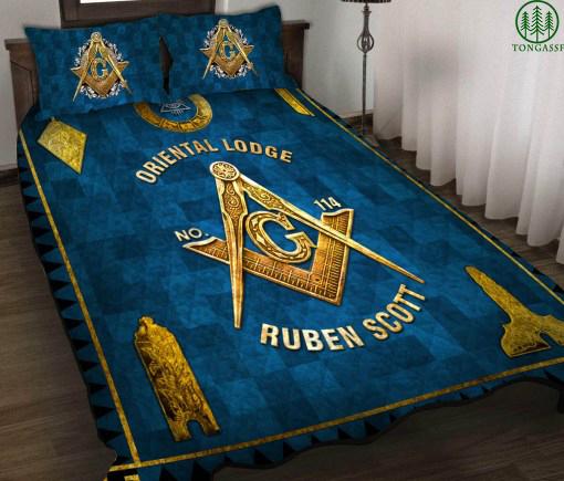 Personalized Blue Freemasonry Bedding Set