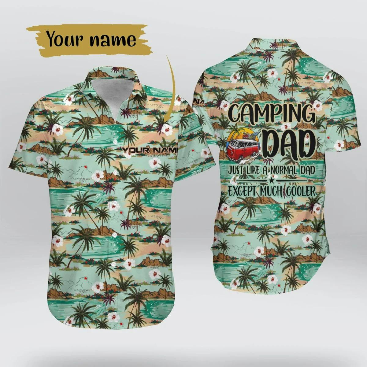 Personalized Camping Dad Hawaiian Shirt