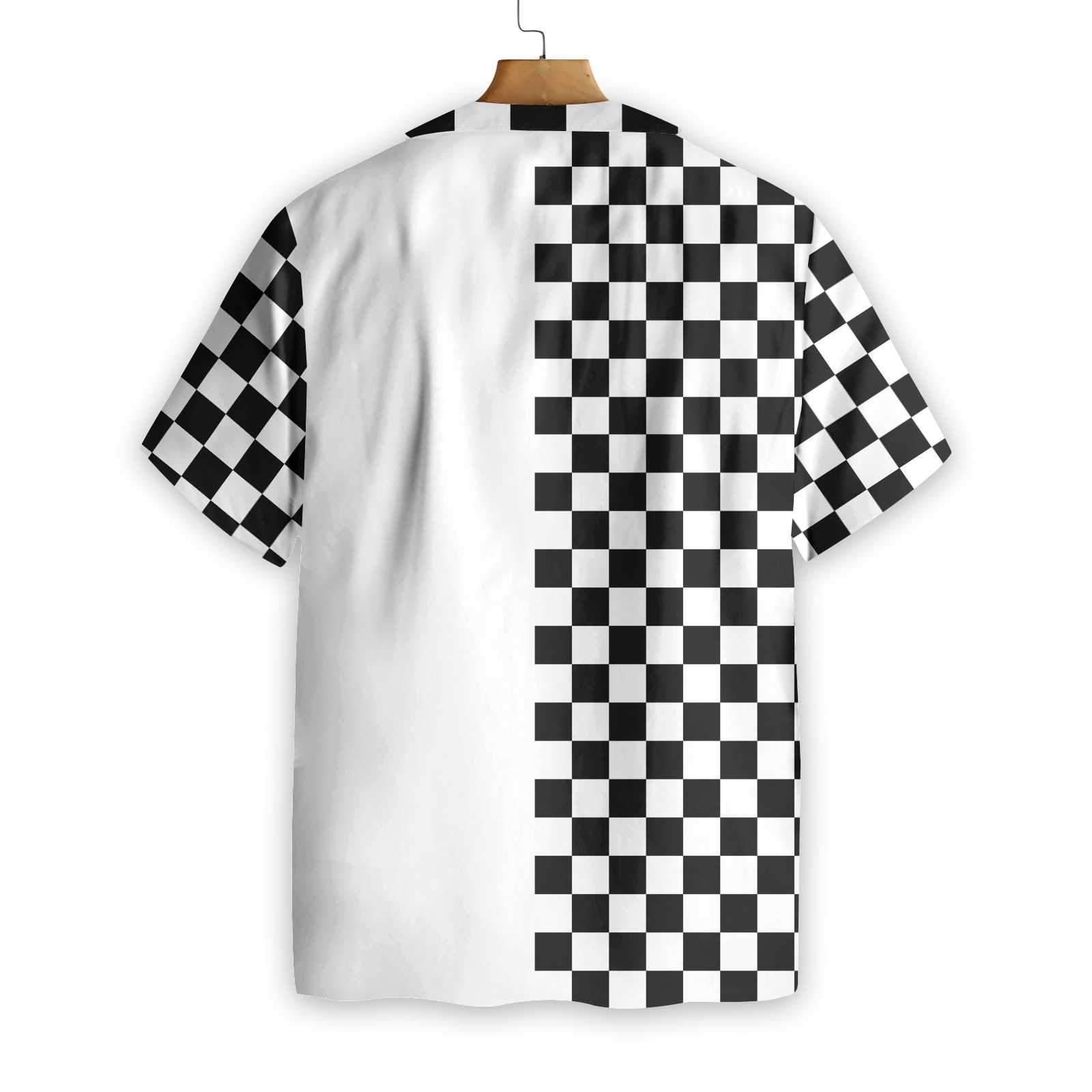Personalized Checkboard Style Golf Hawaiian Shirt 2