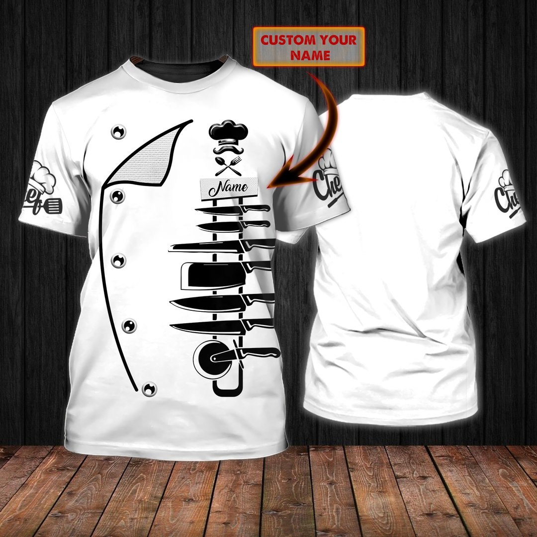 Personalized Chef Kitchen Tools Shirt 2