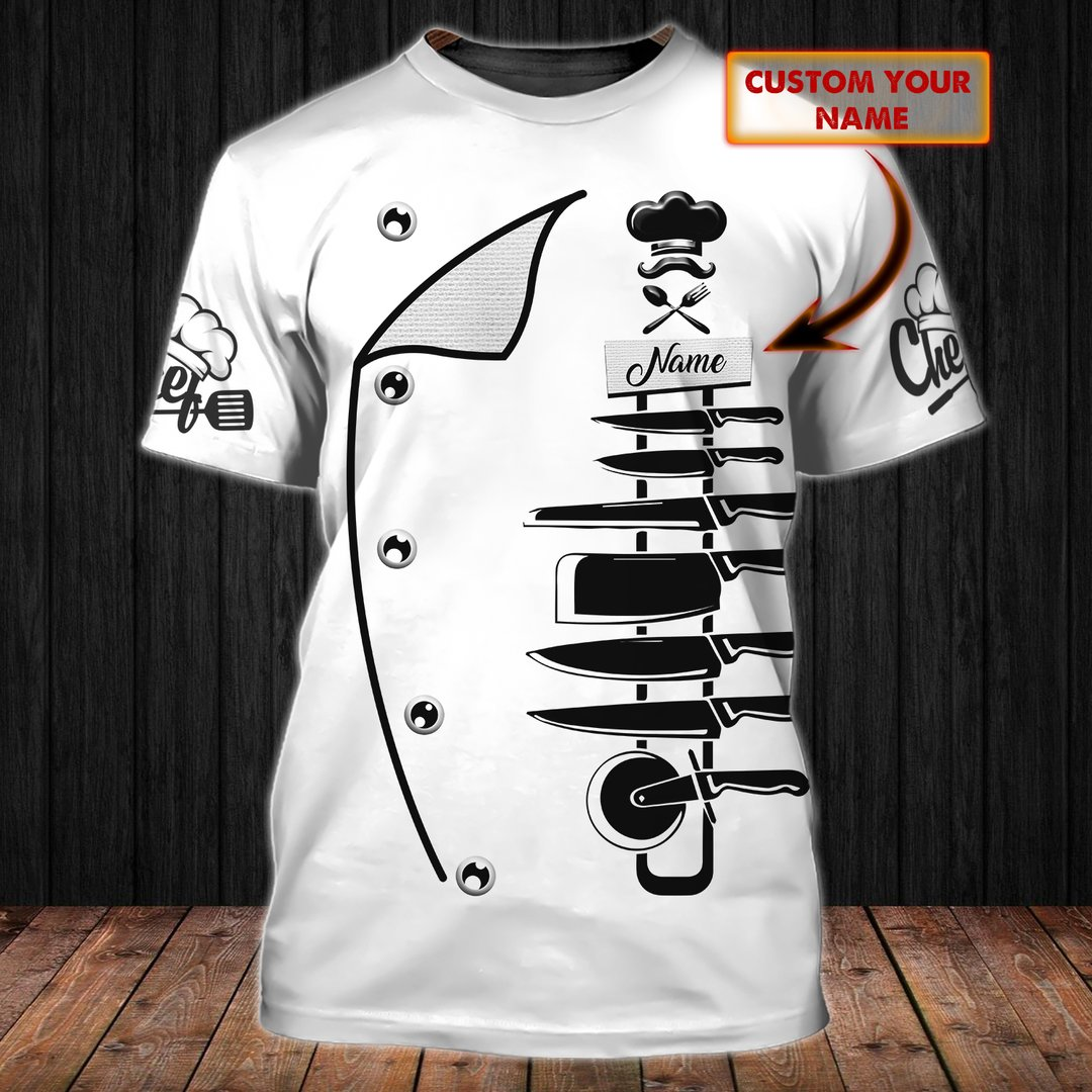 Personalized Chef Kitchen Tools Shirt
