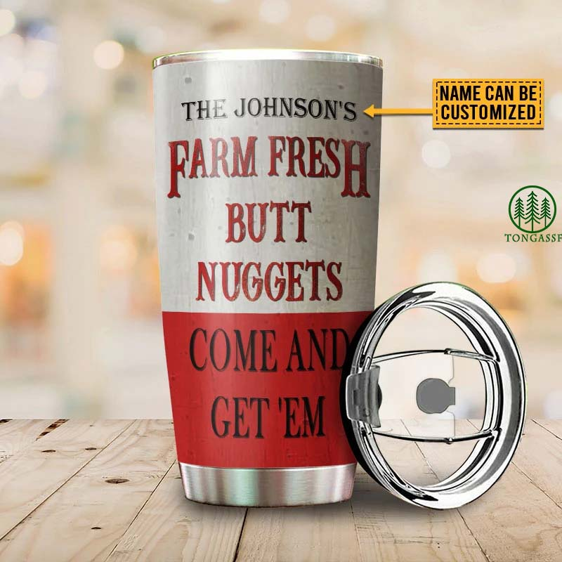 Personalized Chicken Nuggets Come And Get 'Em Tumbler