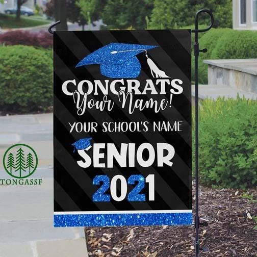 Personalized Congrats Senior Graduation Garden Flag