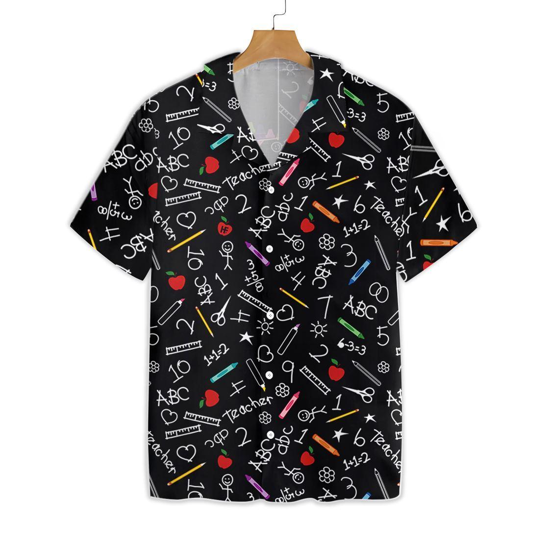 Personalized Crayons Teacher Hawaiian Shirt 2