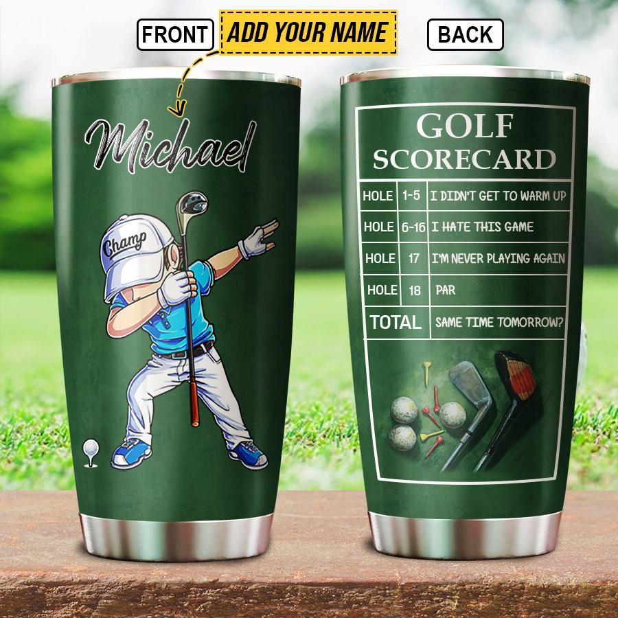 Personalized Dabbing Golf Player Golfer Golfing Tumbler