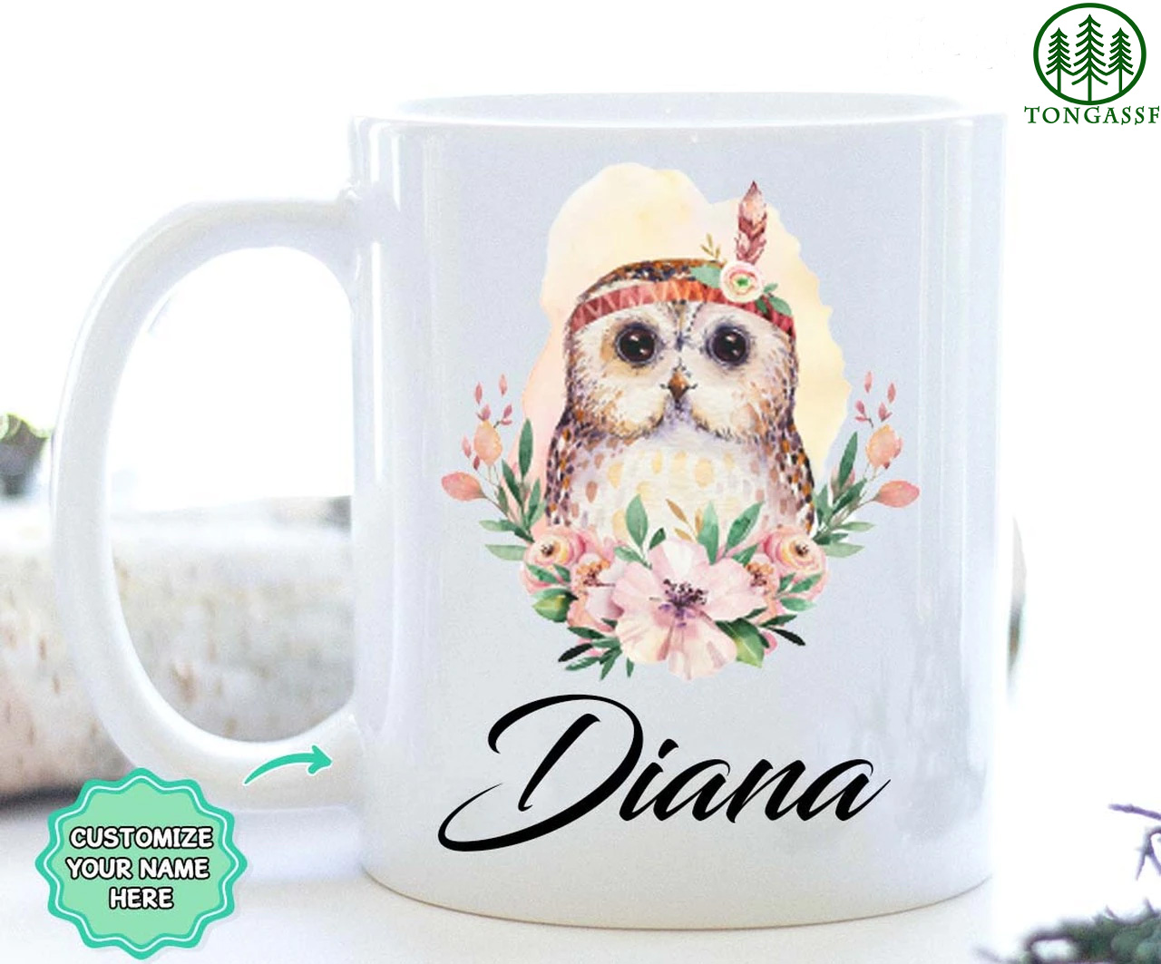 Personalized Gift For Owl Lovers Mug