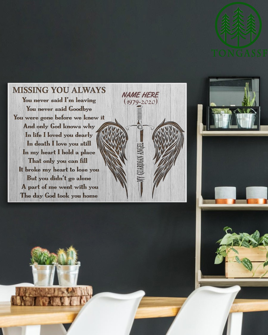 Personalized Heaven Missing You Always Gallery Wrapped Canvas Prints
