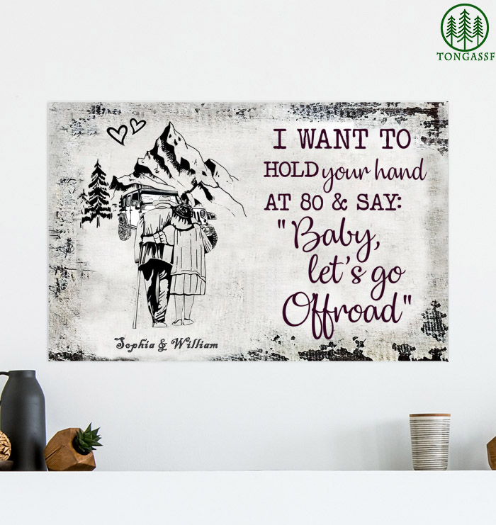 Personalized Hold your hand go offroad poster