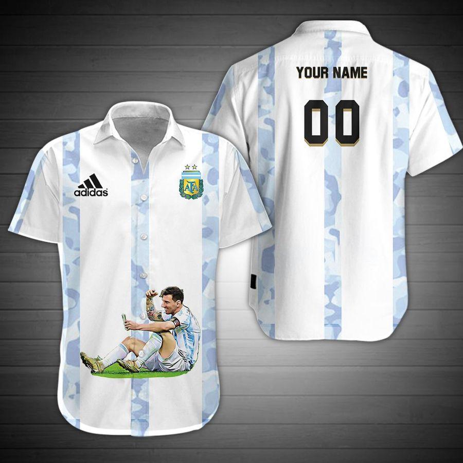 Personalized Lionel Messi M10 Argentian Champion COPA AMERICA 2021 Hawaiian Shirt