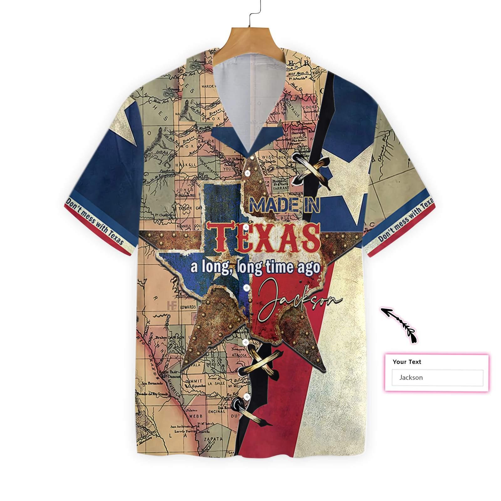 Personalized Made In Texas Long Time Ago Hawaiian Shirt 2