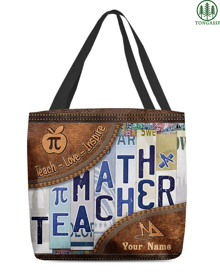 Personalized Math Teacher AOP Tote Bag
