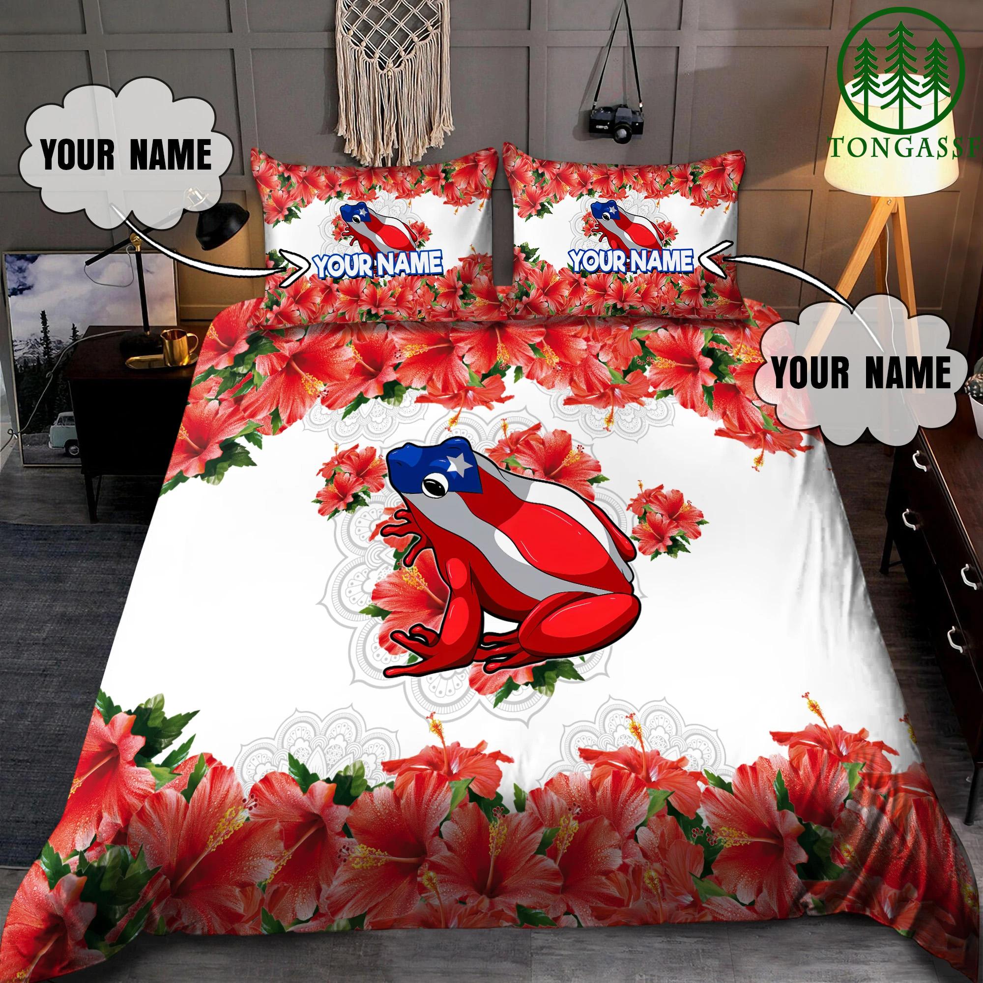 Personalized Name Coqui Puerto Rico Bedding Set