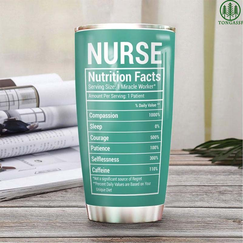 Personalized Nurse Nutrition Facts Stainless Steel Tumbler