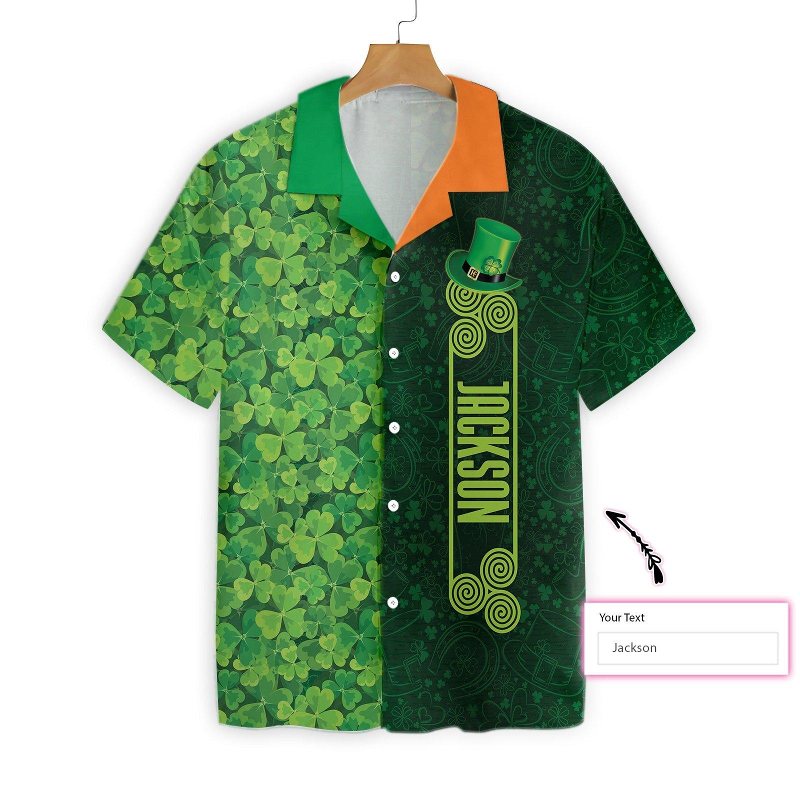 Personalized Shamrock Happy Saint Patrick's Day Irish Ireland Hawaiian Shirt