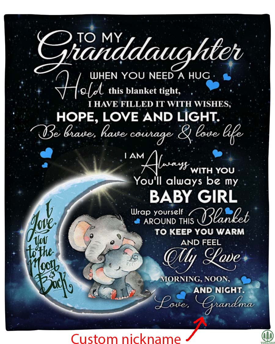 Personalized Special gift to Granddaughter Fleece Blanket