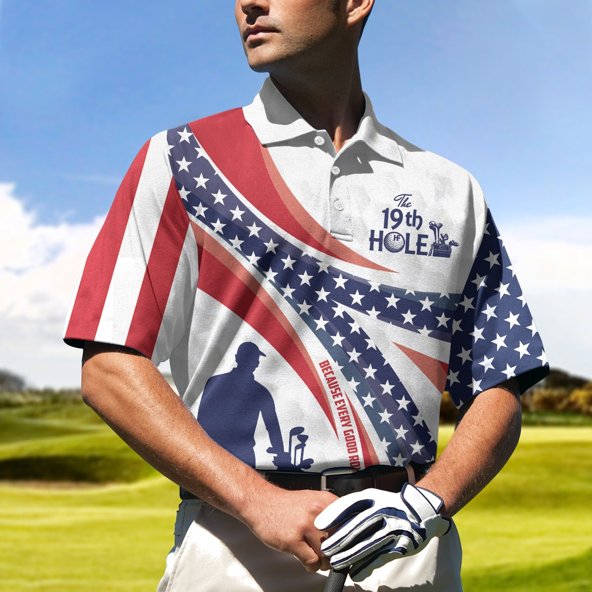 Personalized The Nineteenth Hole Golfer Polo Shirt 2