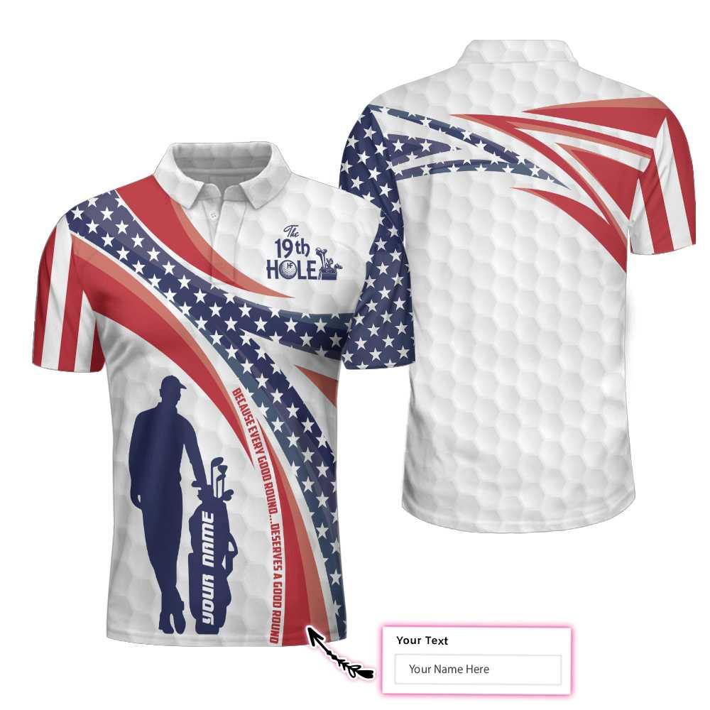 Personalized The Nineteenth Hole Golfer Polo Shirt