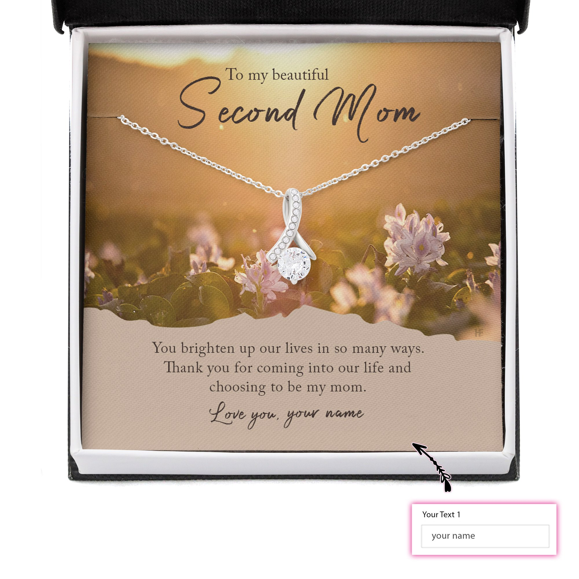 Personalized To My Beauty Second Mom Alluring Necklace 2