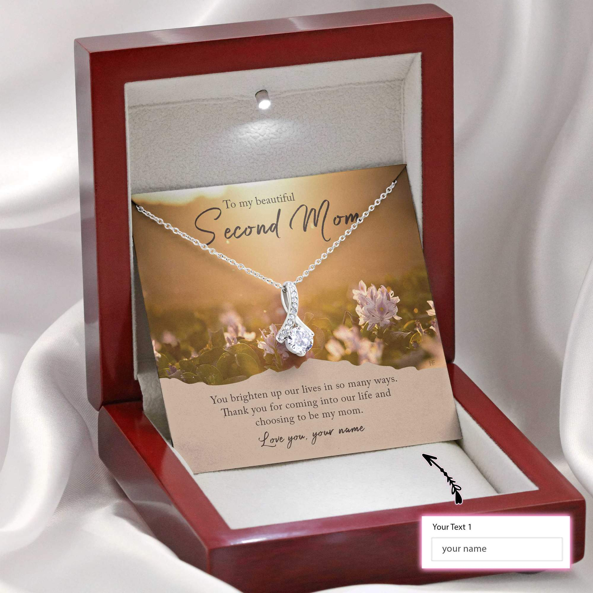 Personalized To My Beauty Second Mom Alluring Necklace