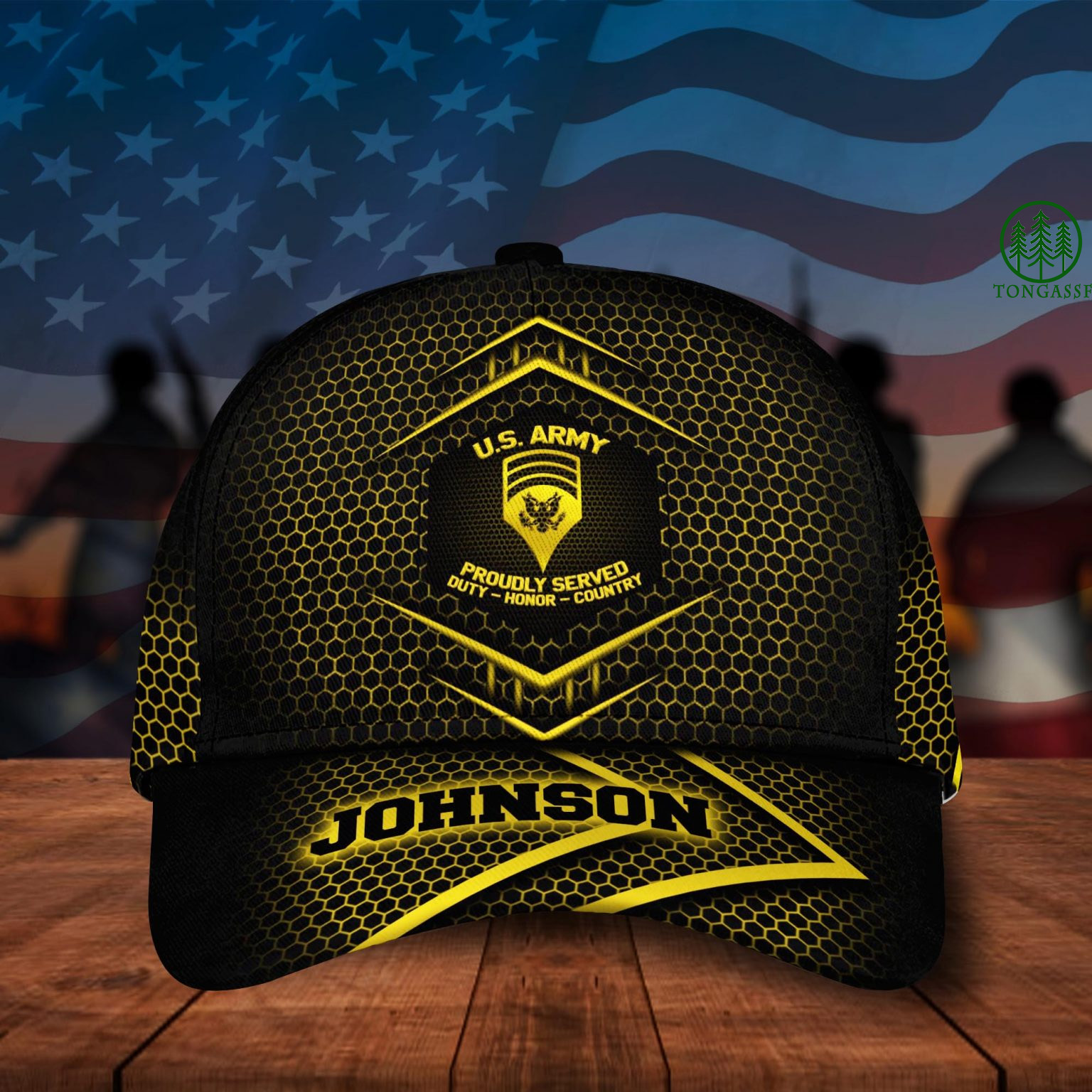 Personalized US Army Military Cap