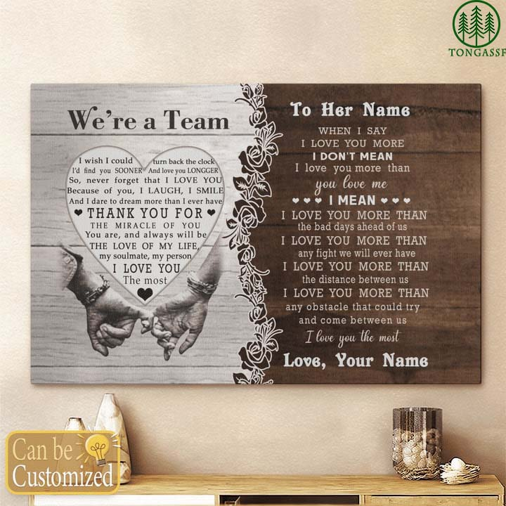 Personalized We are team gift for wife canvas