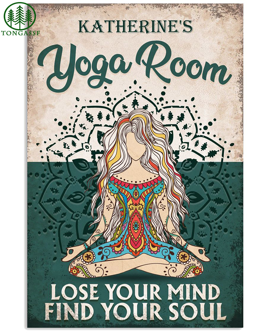 personalized meditation yoga room poster