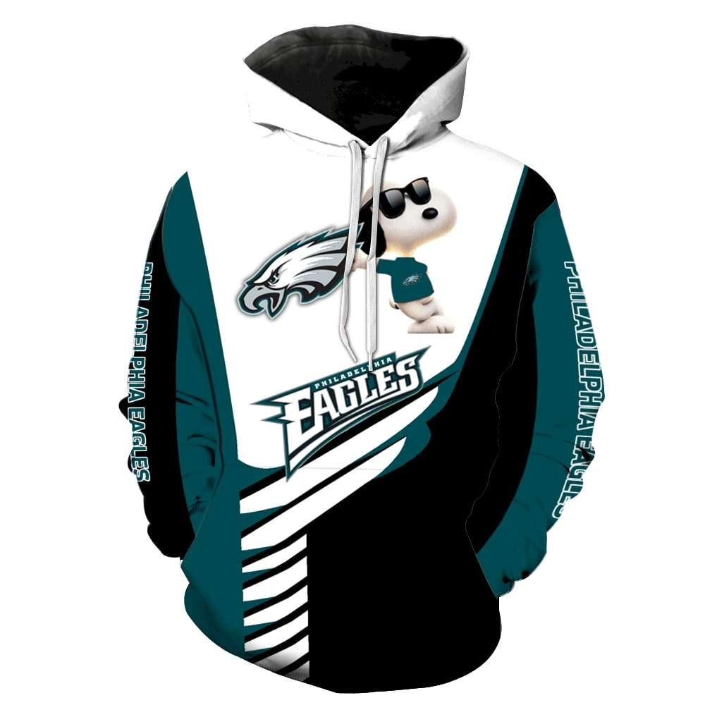 Philadelphia Eagles Snoopy New Full Over Print Hoodie