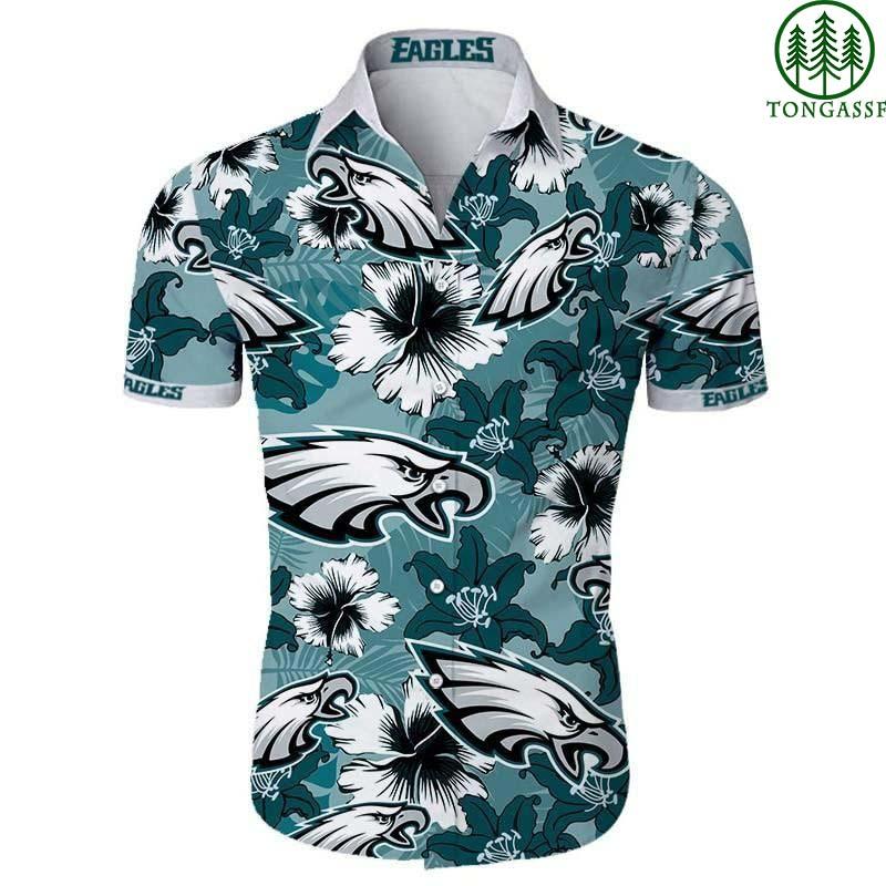 Philadelphia eagles floral Hawaiian Shirt for NFL fan