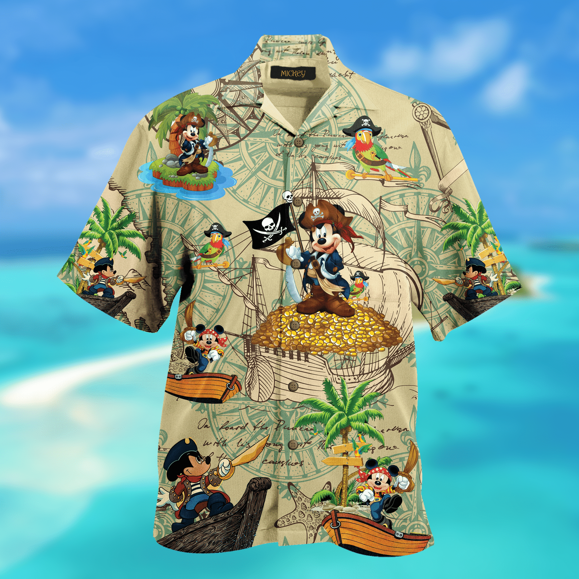 Pirate Mickey Mouse Hawaiian Shirt 2