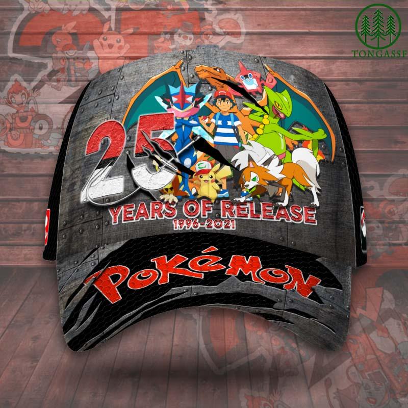 Pokemon 25 years released Baseball Caps