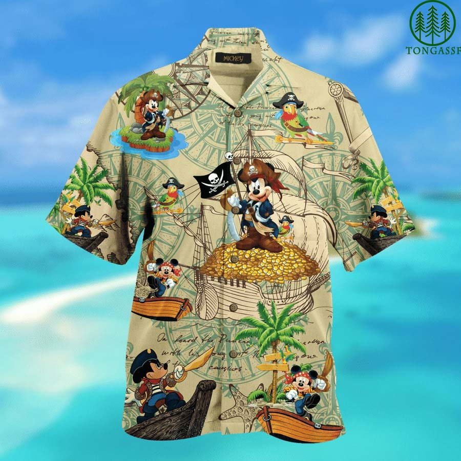Pirates Mickey Mouse Hawaiian Shirt