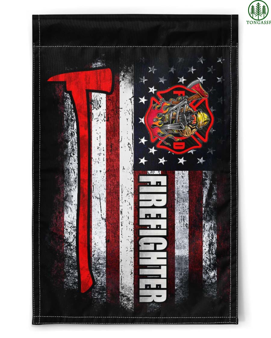 Proud Firefighter American Flag