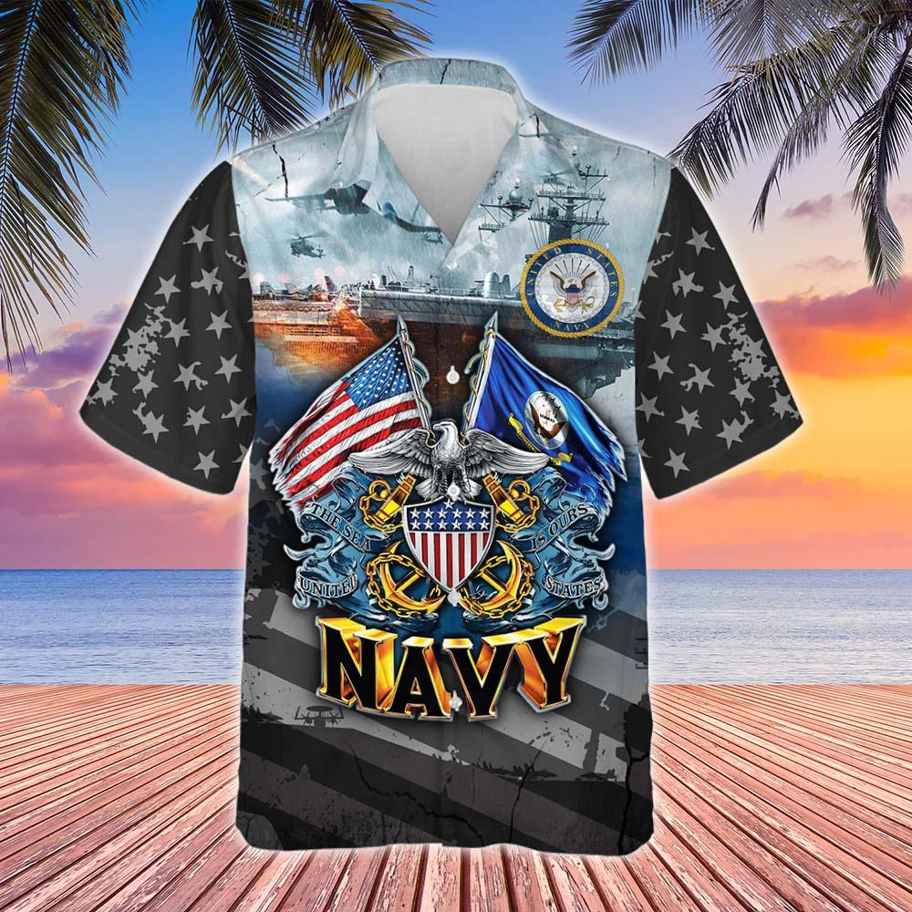 Proudly Served United States Navy Hawaiian Shirt 2