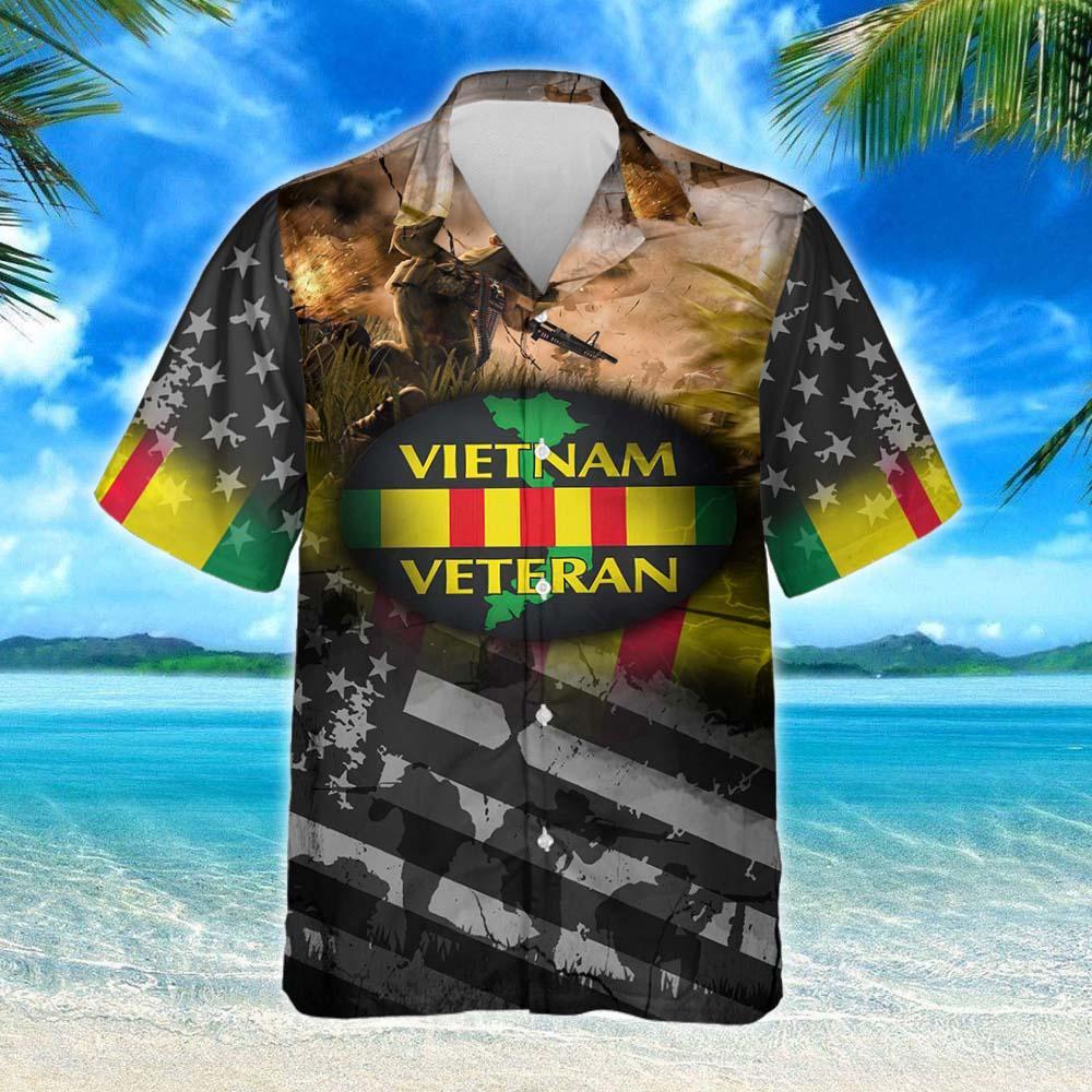 Proudly Served Vietnam Veteran Hawaiian Shirt 2
