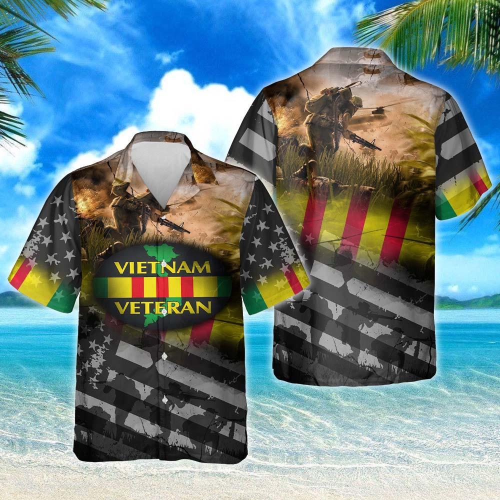 Proudly Served Vietnam Veteran Hawaiian Shirt