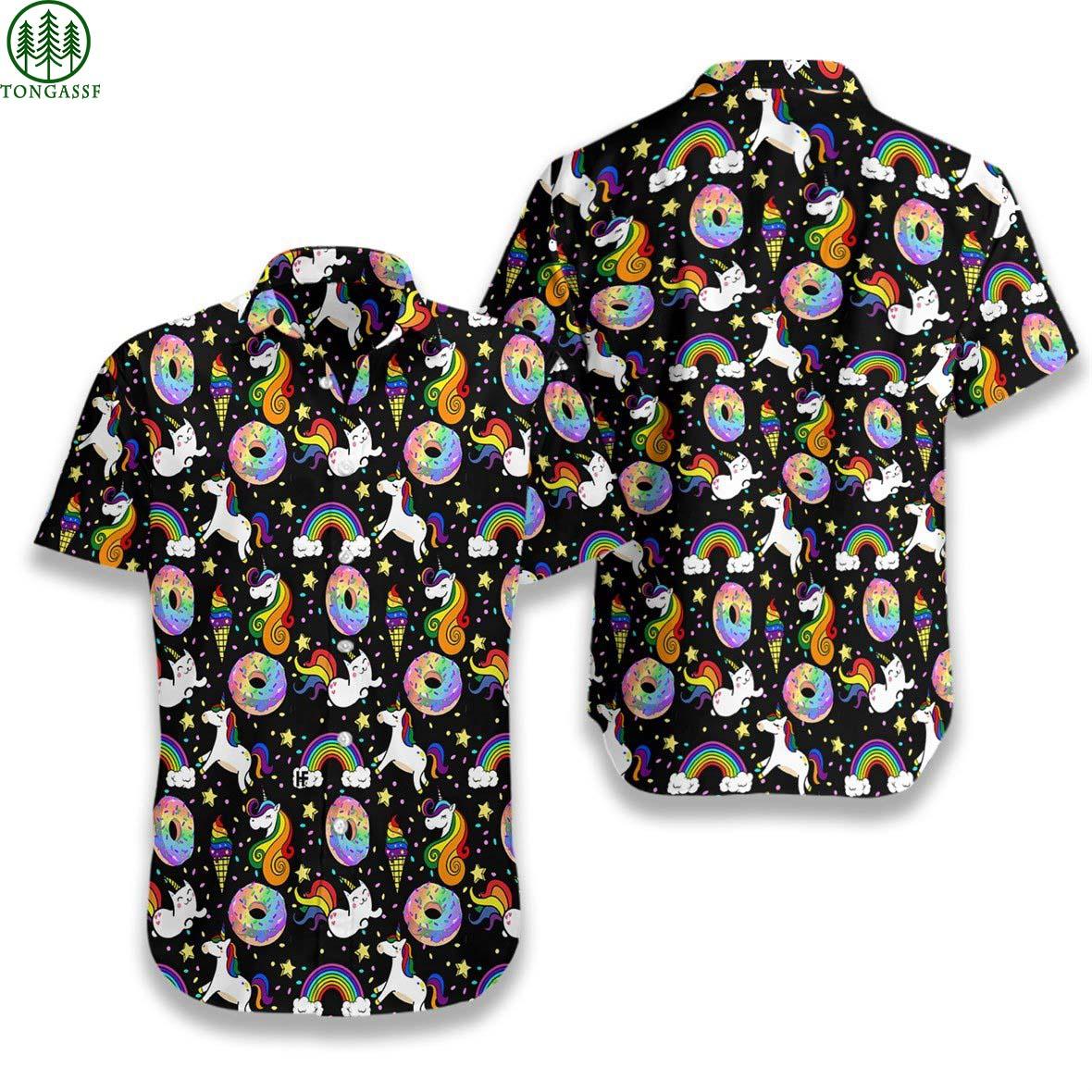 Rainbow Unicorn Kitticorn Hawaiian Shirt