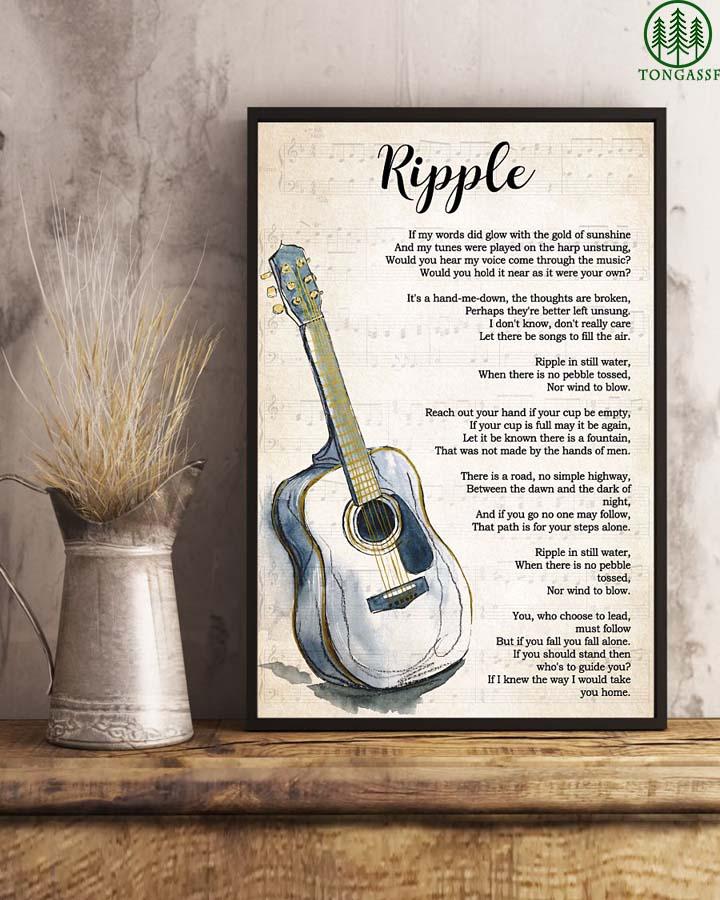 Ripple classic guitar vertical poster
