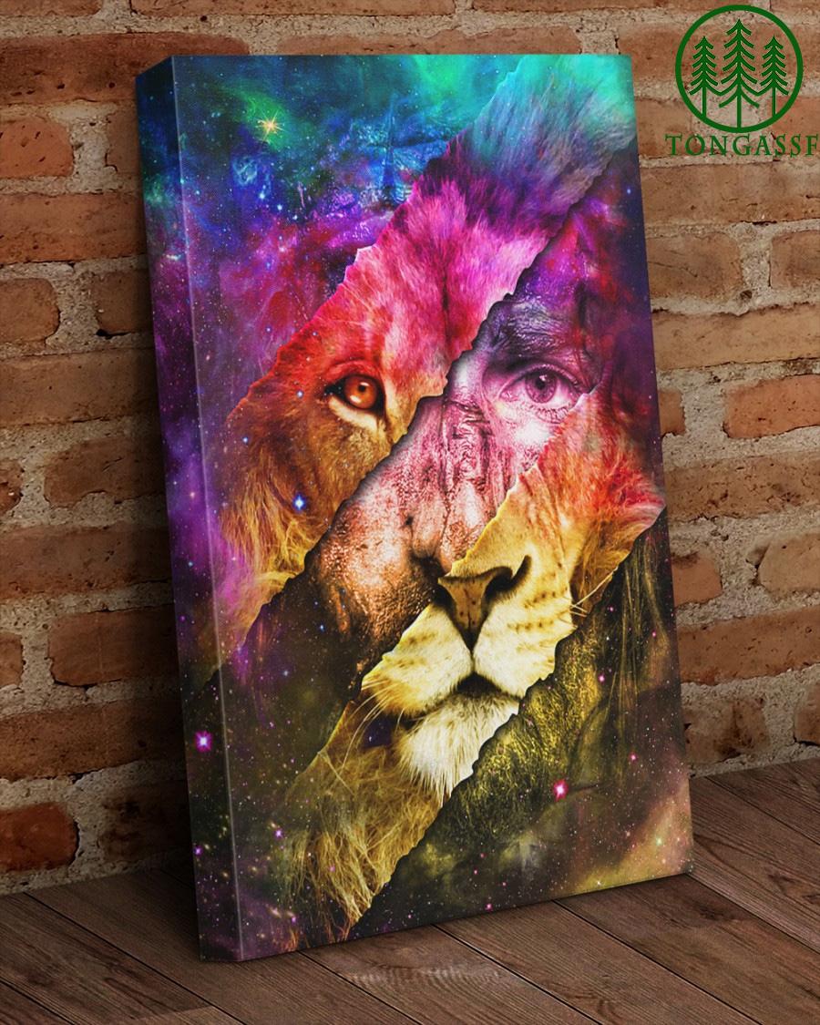 Roaring like a lion canvas