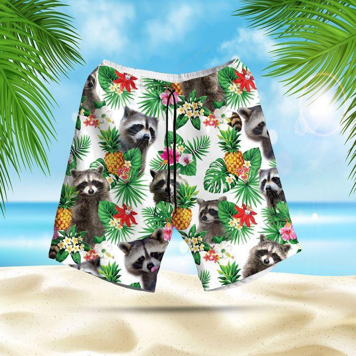 Rocket Raccoon Lovers Marvel pineapple Hawaiian Shirt and Shorts