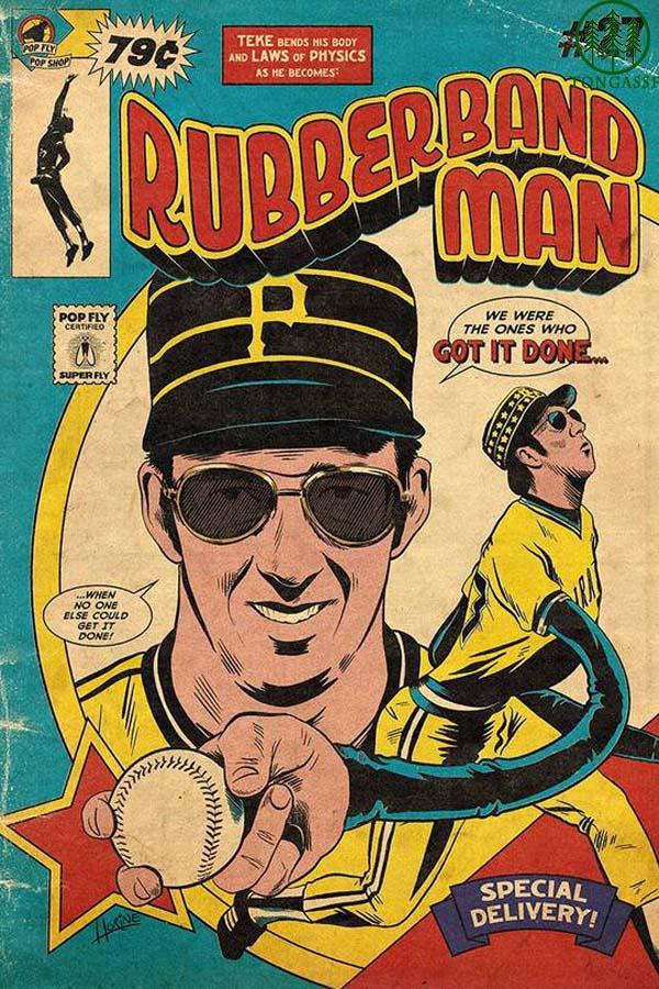 Rubberband Man baseball poster