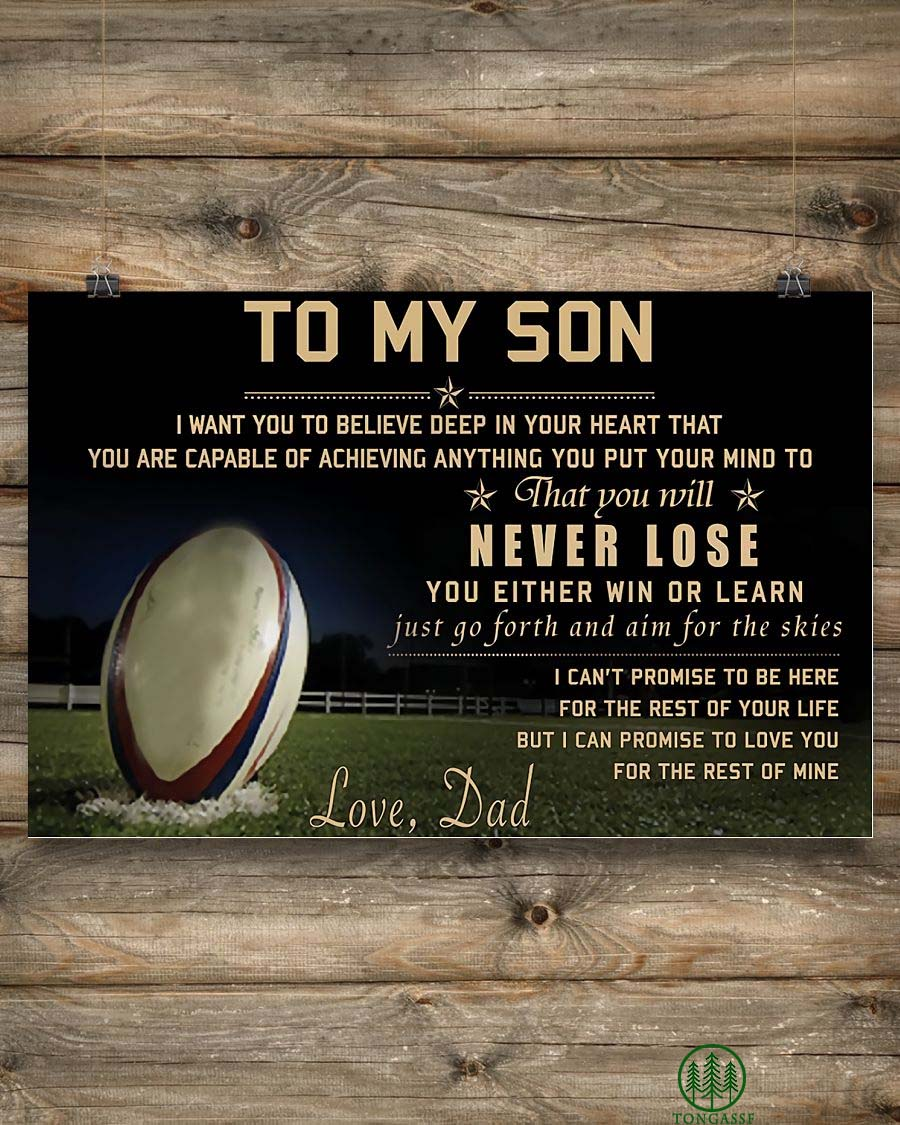 Rugby Dad To My Son Poster