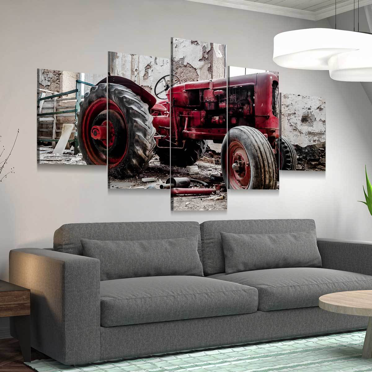 Classic Tractor 5 panel canvas wall art