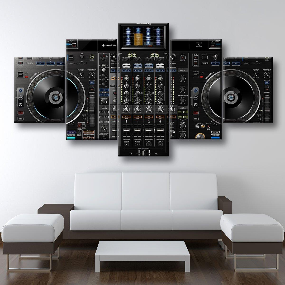DJ Mixer 5 panel canvas wall art